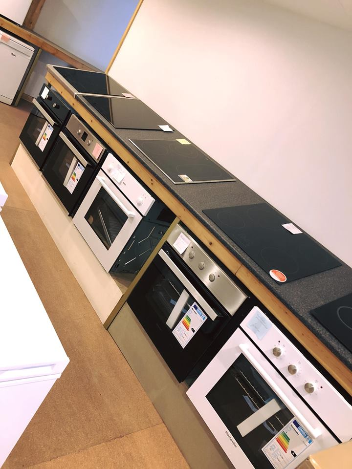 ovens and hobs at harrison cross electrical showroom